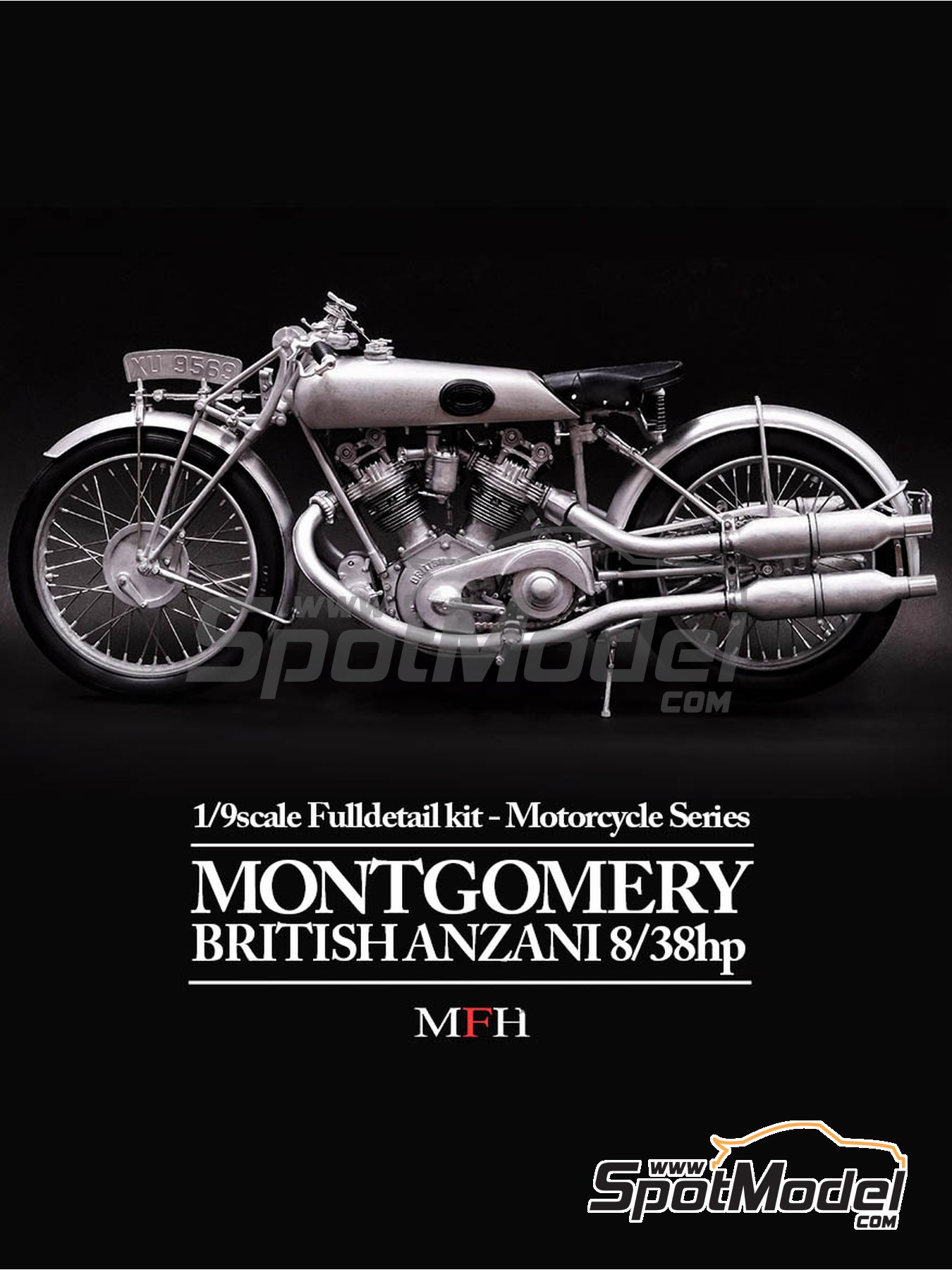 Montgomery British Anzani 8/38hp   1920 | Model Bike Kit In 1/9