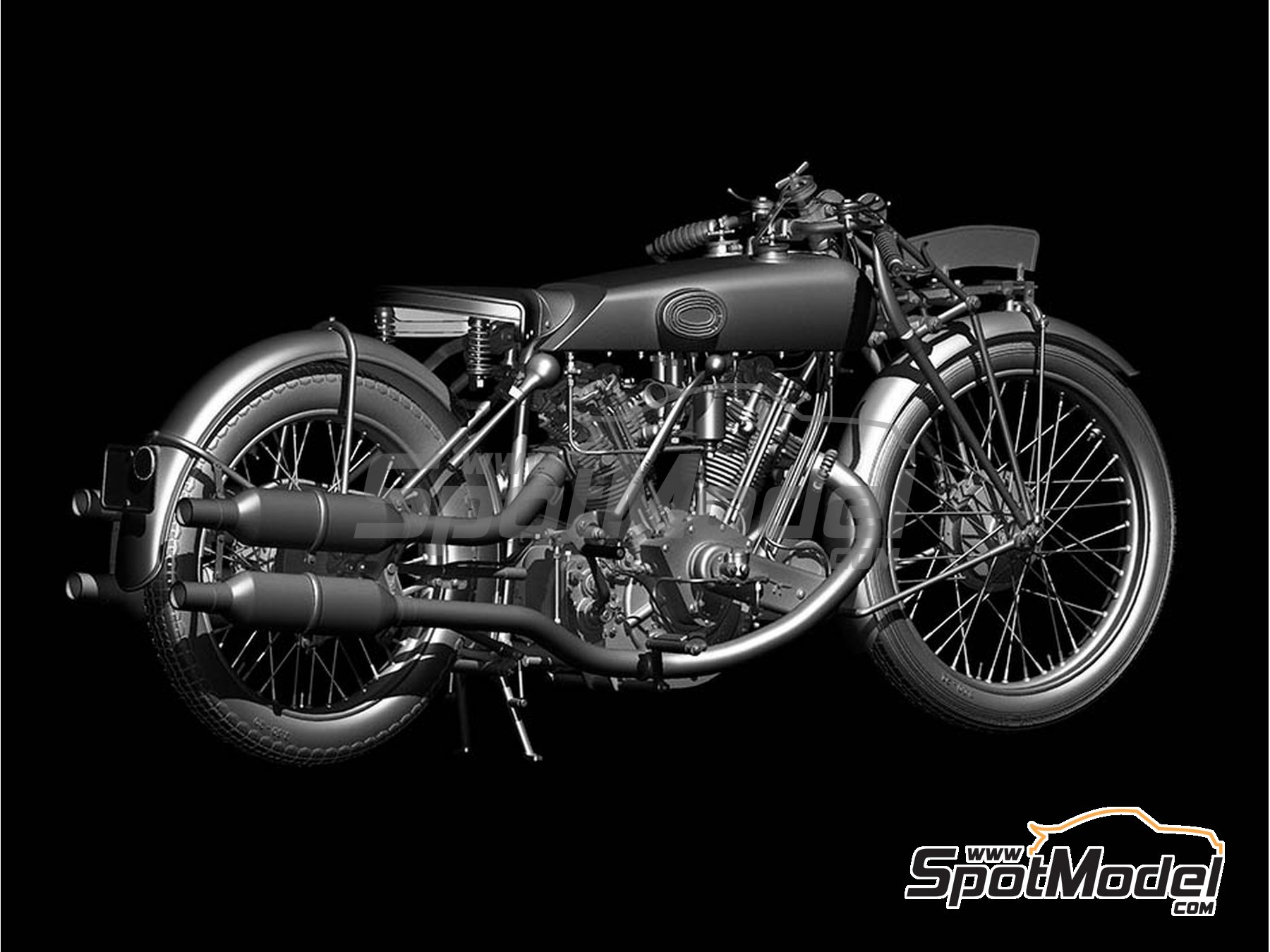 ... Image 2: Montgomery British Anzani 8/38hp   1920 | Model Bike Kit In ...