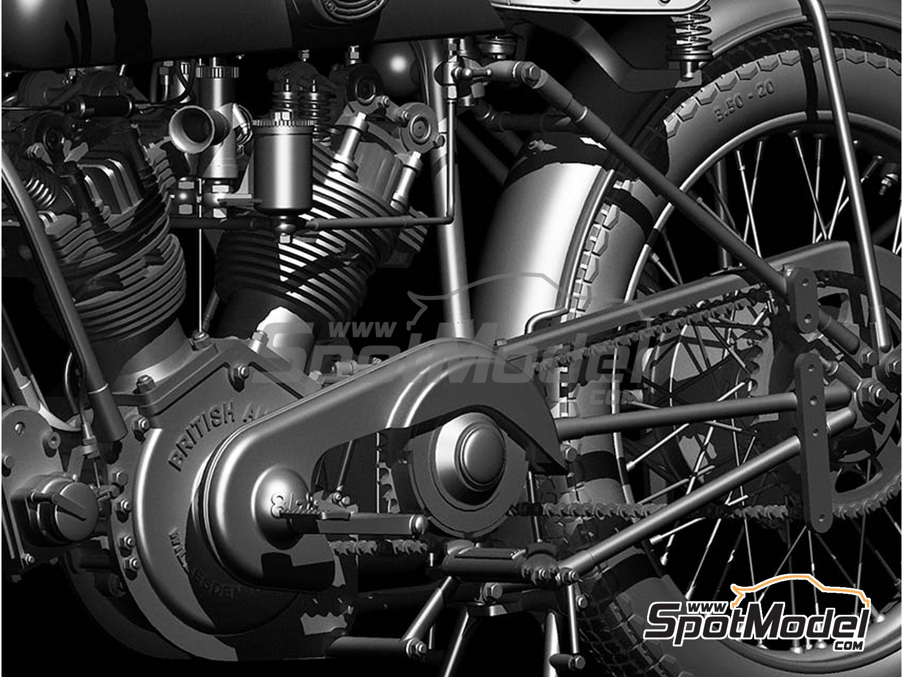 ... Image 5: Montgomery British Anzani 8/38hp   1920 | Model Bike Kit In ...