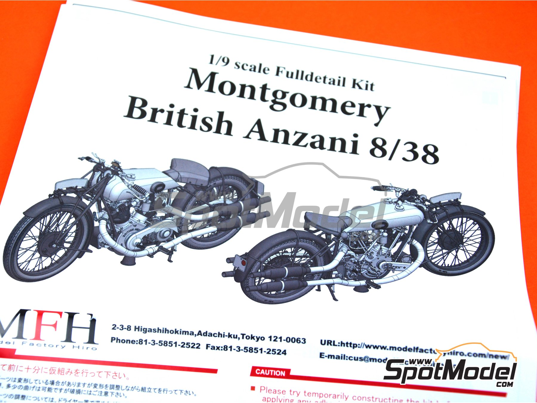 ... Image 22: Montgomery British Anzani 8/38hp   1920 | Model Bike Kit In  ...