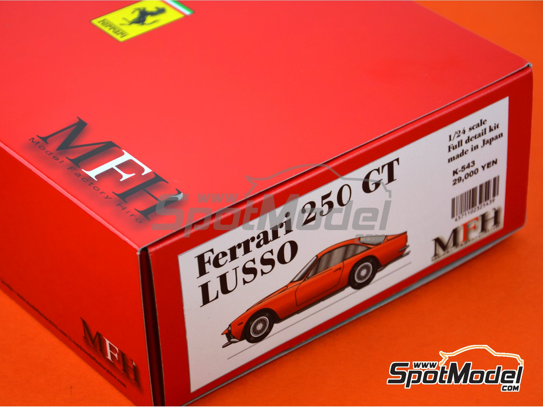 Image 5: Ferrari 250 GT Lusso | Model car kit in 1/24 scale manufactured by Model Factory Hiro (ref. MFH-K543, also K-543)