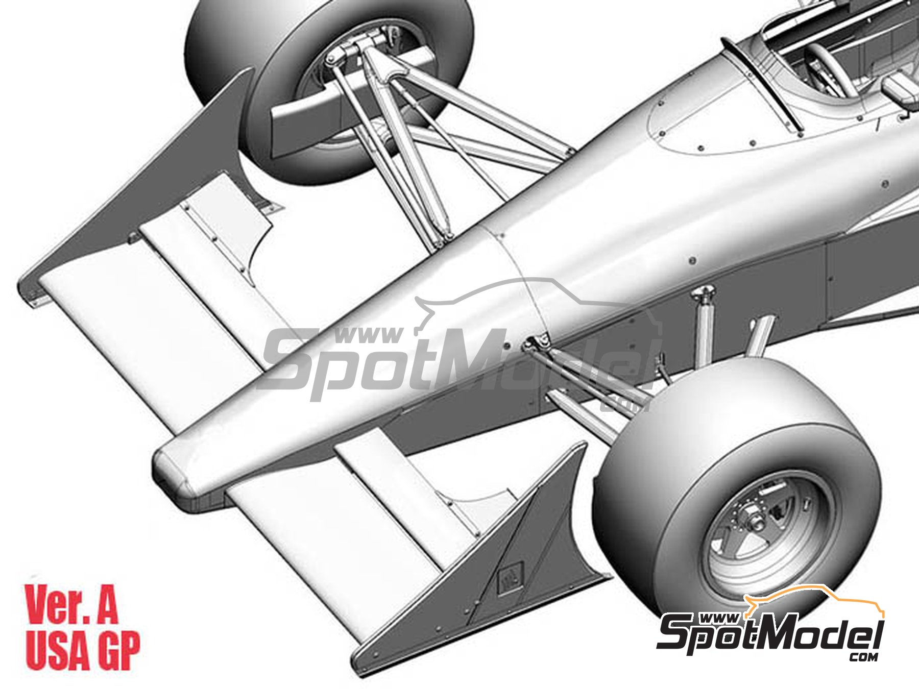 Image 4: McLaren Honda MP4/5B Marlboro - Monaco Formula 1 Grand Prix, USA Grand Prix 1990 | Model car kit in 1/43 scale manufactured by Model Factory Hiro (ref. MFH-K546)