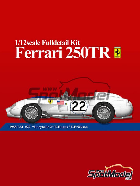 Ferrari 250TR - 24 Hours Le Mans 1958 | Model car kit in 1/12 scale manufactured by Model Factory Hiro (ref. MFH-K548) image