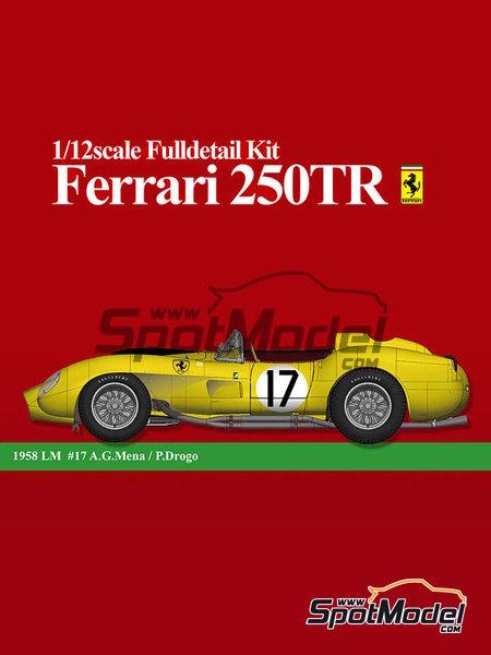 Ferrari 250TR - 24 Horas de Le Mans 1958   Maqueta de coche en escala1/12 fabricado por Model Factory Hiro (ref.MFH-K549) image