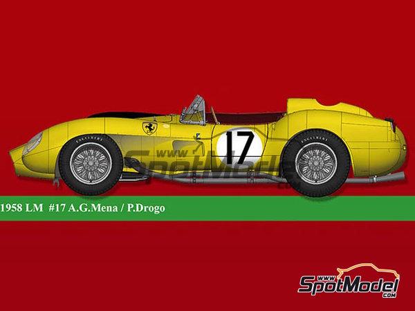 Image 1: Ferrari 250TR - 24 Horas de Le Mans 1958   Maqueta de coche en escala1/12 fabricado por Model Factory Hiro (ref.MFH-K549)