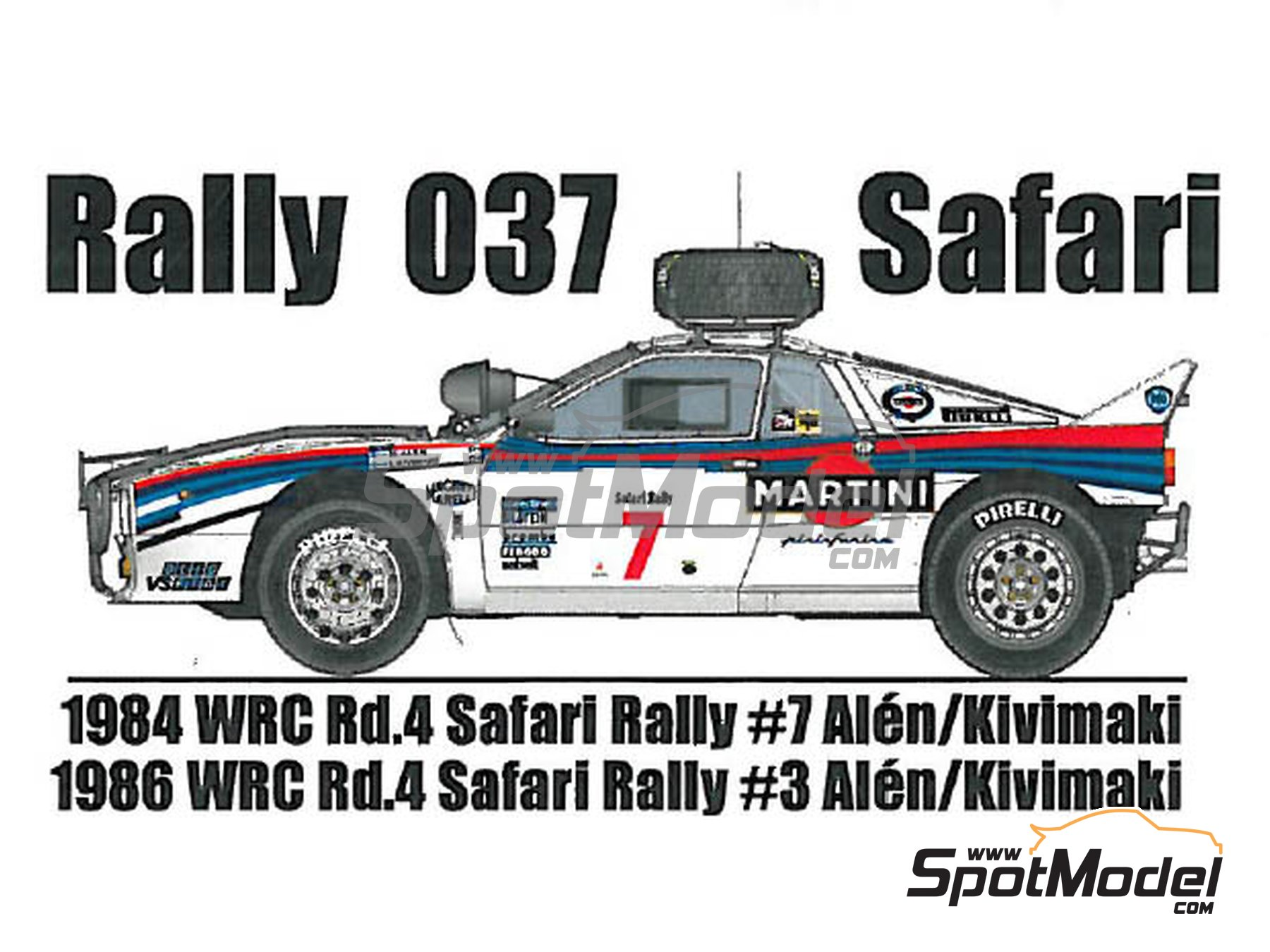 Image 1: Lancia Rally 037 - Safari Rally 1984, 1986 | Model car kit in 1/24 scale manufactured by Model Factory Hiro (ref. MFH-K550)