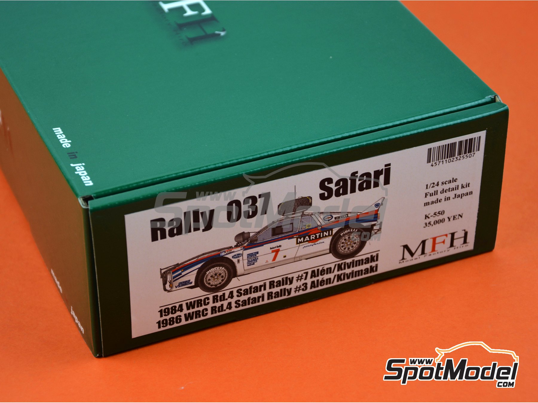 Image 10: Lancia Rally 037 - Safari Rally 1984, 1986 | Model car kit in 1/24 scale manufactured by Model Factory Hiro (ref. MFH-K550)