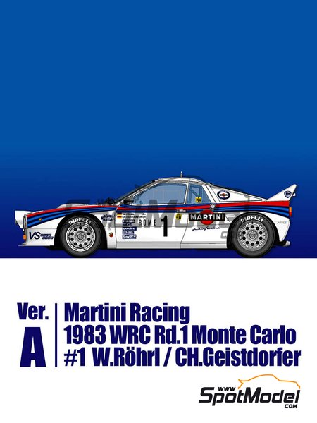 Lancia 037 Rally Martini Racing Team - Montecarlo Rally 1983 | Model car kit in 1/43 scale manufactured by Model Factory Hiro (ref.MFH-K557) image