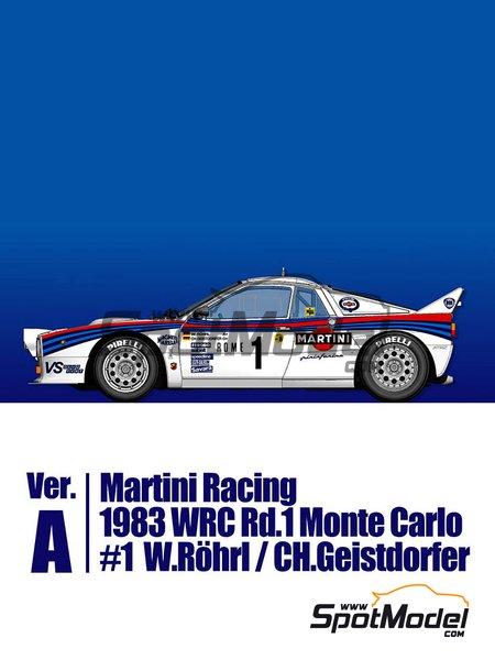 Lancia 037 Rally Martini Racing Team - Rally de Montecarlo 1983 | Maqueta de coche en escala1/43 fabricado por Model Factory Hiro (ref.MFH-K557, tambien K-557) image
