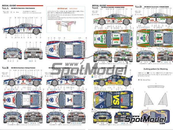 Image 9: Lancia 037 Rally Martini Racing Team - Rally de Montecarlo 1983 | Maqueta de coche en escala1/43 fabricado por Model Factory Hiro (ref.MFH-K557, tambien K-557)