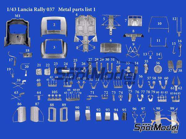 Image 10: Lancia 037 Rally Martini Racing Team - Rally de Montecarlo 1983 | Maqueta de coche en escala1/43 fabricado por Model Factory Hiro (ref.MFH-K557, tambien K-557)