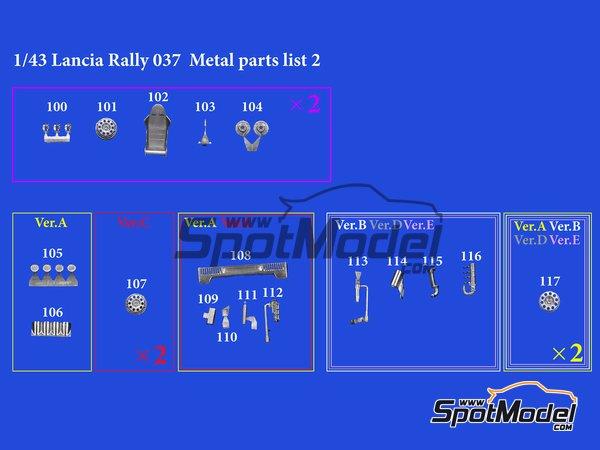 Image 11: Lancia 037 Rally Martini Racing Team - Rally de Montecarlo 1983 | Maqueta de coche en escala1/43 fabricado por Model Factory Hiro (ref.MFH-K557, tambien K-557)