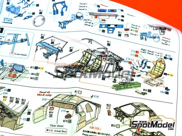 Image 30: Lancia 037 Rally Martini Racing Team - Rally de Montecarlo 1983 | Maqueta de coche en escala1/43 fabricado por Model Factory Hiro (ref.MFH-K557, tambien K-557)