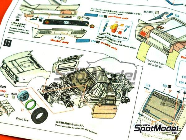 Image 32: Lancia 037 Rally Martini Racing Team - Rally de Montecarlo 1983 | Maqueta de coche en escala1/43 fabricado por Model Factory Hiro (ref.MFH-K557, tambien K-557)