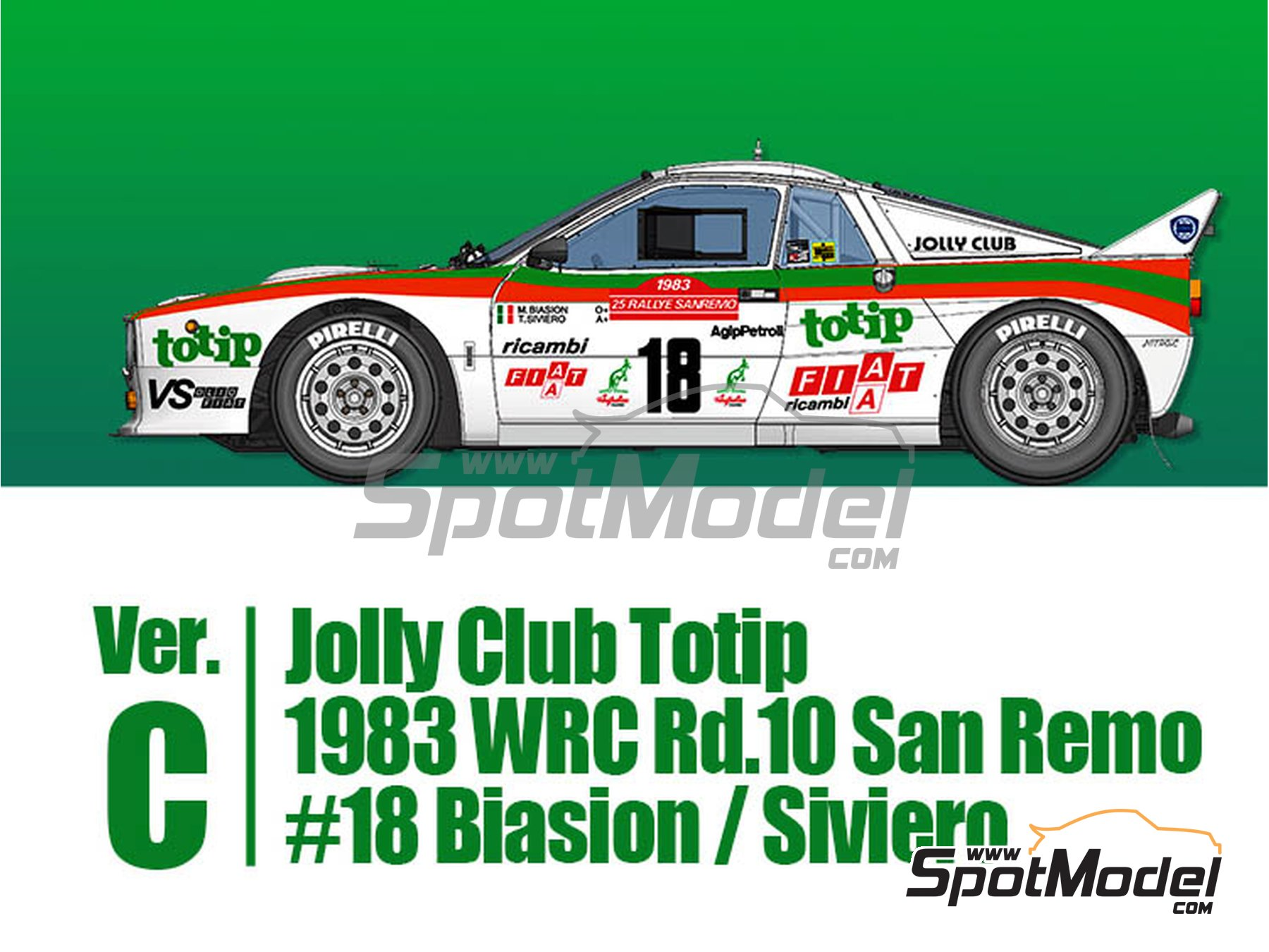 Image 1: Lancia 037 Rally - Sanremo Rally 1983 | Model car kit in 1/43 scale manufactured by Model Factory Hiro (ref. MFH-K559)