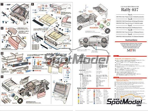 Image 7: Lancia 037 Rally Jolly Club Totip - Rally Tour de Corse 1984 | Maqueta de coche en escala1/43 fabricado por Model Factory Hiro (ref.MFH-K560)