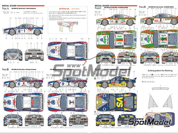 Image 9: Lancia 037 Rally Jolly Club Totip - Tour de Corse 1984 | Model car kit in 1/43 scale manufactured by Model Factory Hiro (ref.MFH-K560)