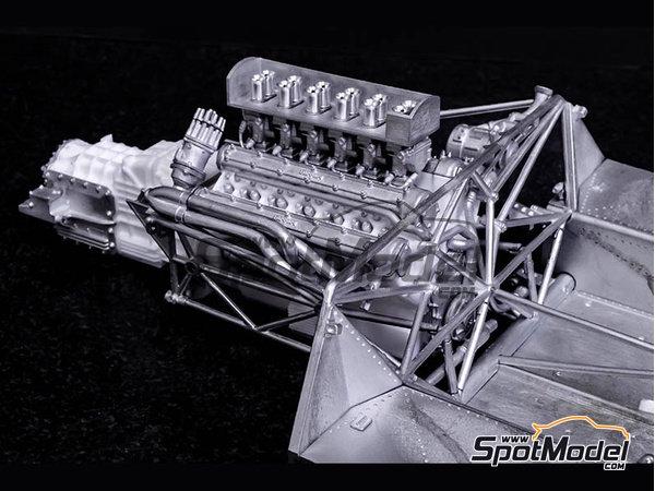 Image 17: Ferrari 412P - 24 Horas de Le Mans, 1000 Kms de SPA | Maqueta de coche en escala1/12 fabricado por Model Factory Hiro (ref.MFH-K562)