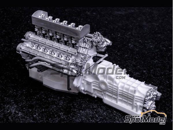 Image 23: Ferrari 412P - 24 Horas de Le Mans, 1000 Kms de SPA | Maqueta de coche en escala1/12 fabricado por Model Factory Hiro (ref.MFH-K562)