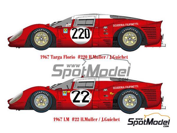Image 1: Ferrari 412P Scuderia Filipinetti - 24 Horas de Le Mans, Targa Florio 1967 | Maqueta de coche en escala1/12 fabricado por Model Factory Hiro (ref.MFH-K563)