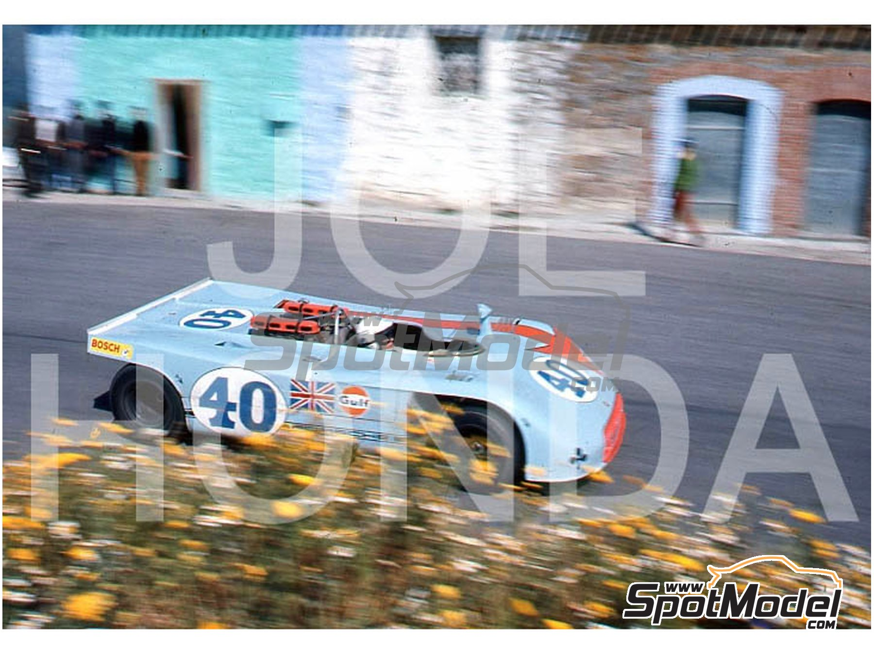 Image 14: Porsche 908/3 - Targa Florio 1970 | Model car kit in 1/43 scale manufactured by Model Factory Hiro (ref. MFH-K571)