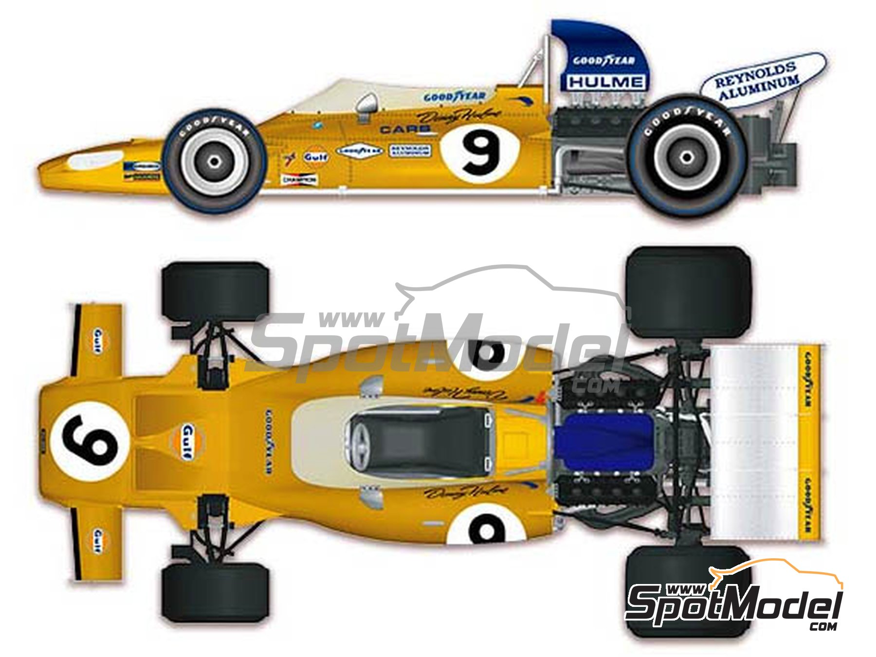 Image 1: McLaren Ford M19A Yardley - Canadian Grand Prix, USA Grand Prix 1971 | Model car kit in 1/43 scale manufactured by Model Factory Hiro (ref. MFH-K584)