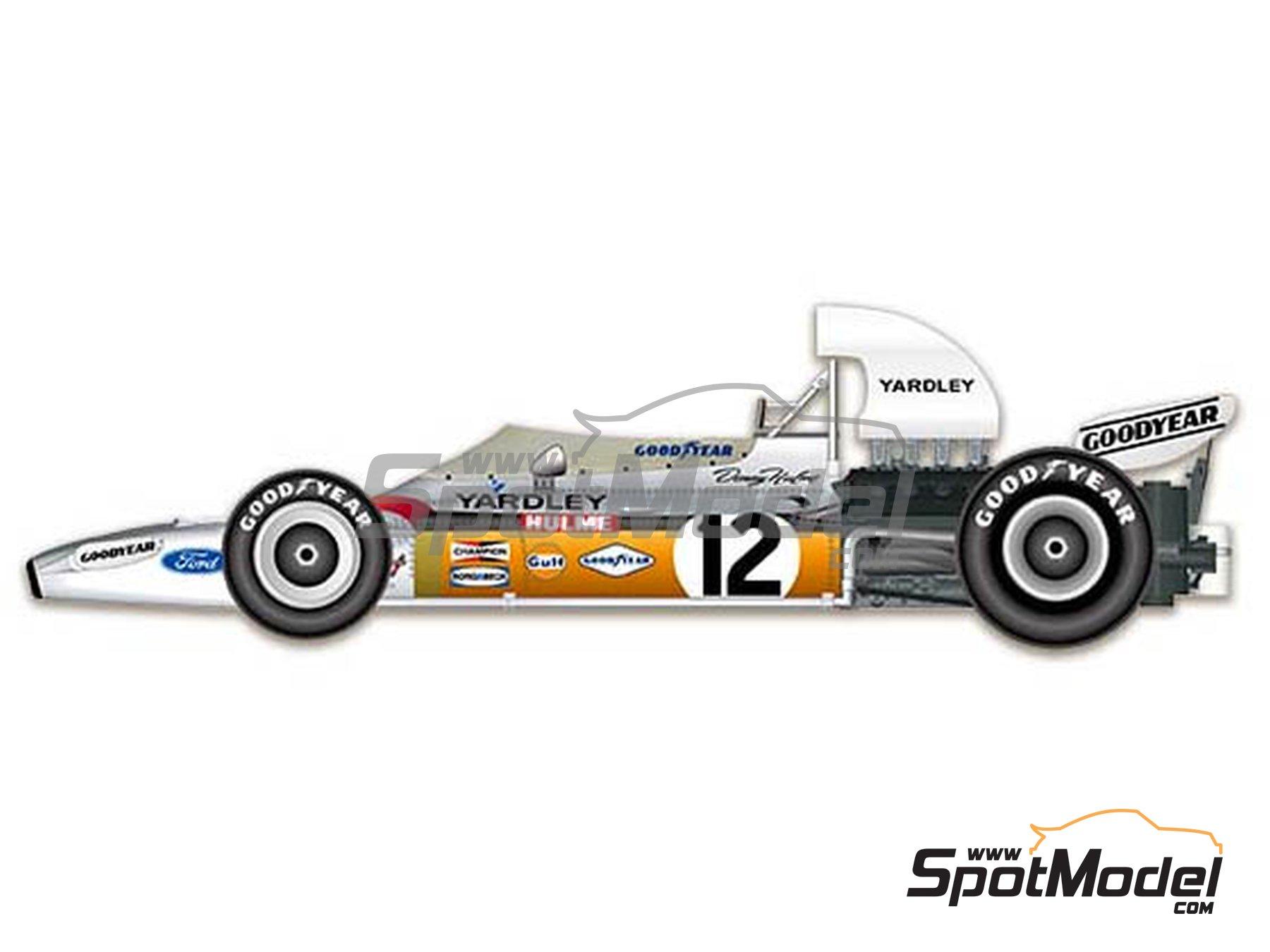 Image 1: McLaren Ford M19A - Gran Premio de Belgica, Gran Premio de Sudafrica 1972 | Maqueta de coche en escala1/43 fabricado por Model Factory Hiro (ref.MFH-K586)
