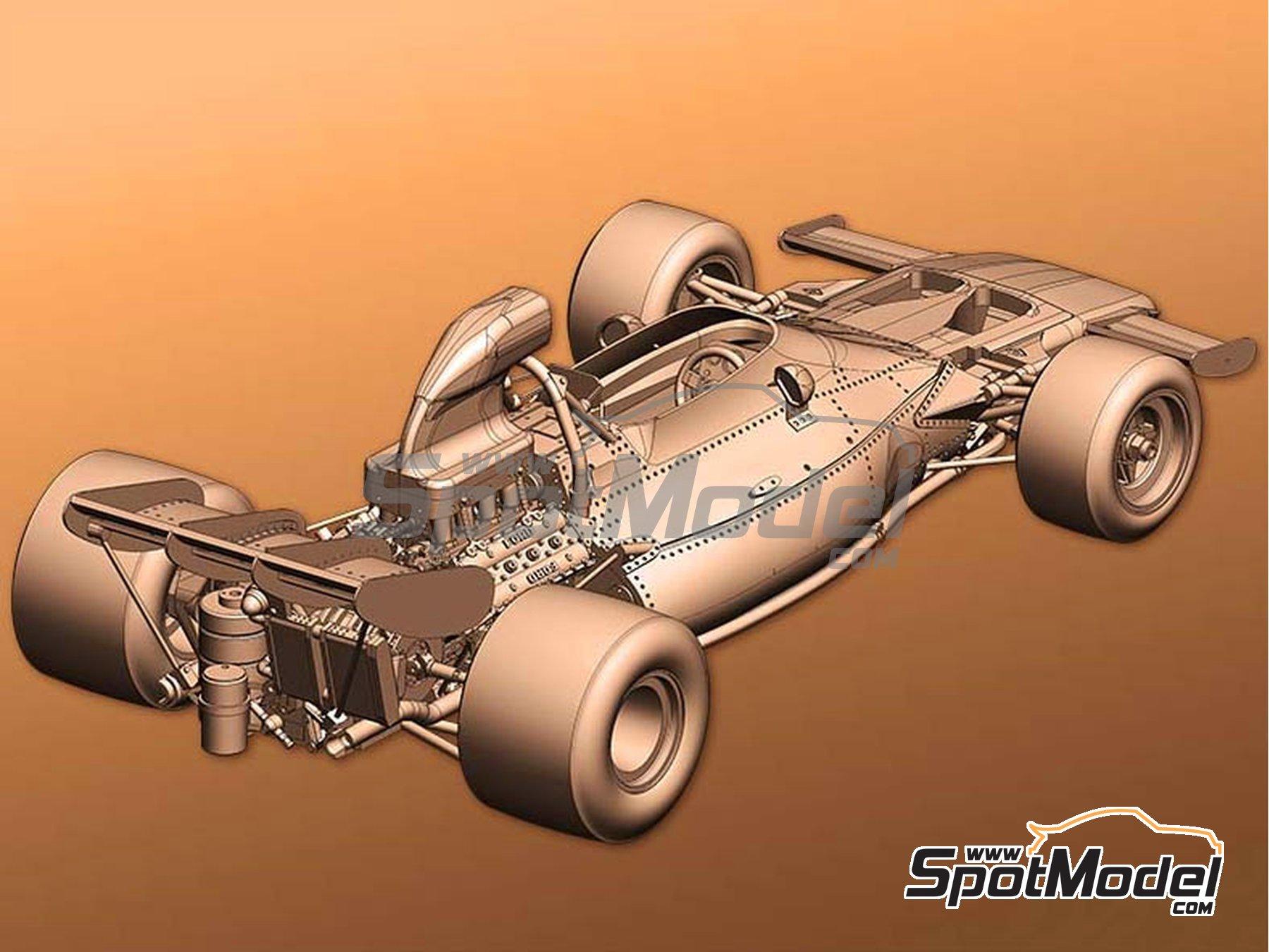 Image 4: McLaren Ford M19A - Gran Premio de Belgica, Gran Premio de Sudafrica 1972 | Maqueta de coche en escala1/43 fabricado por Model Factory Hiro (ref.MFH-K586)