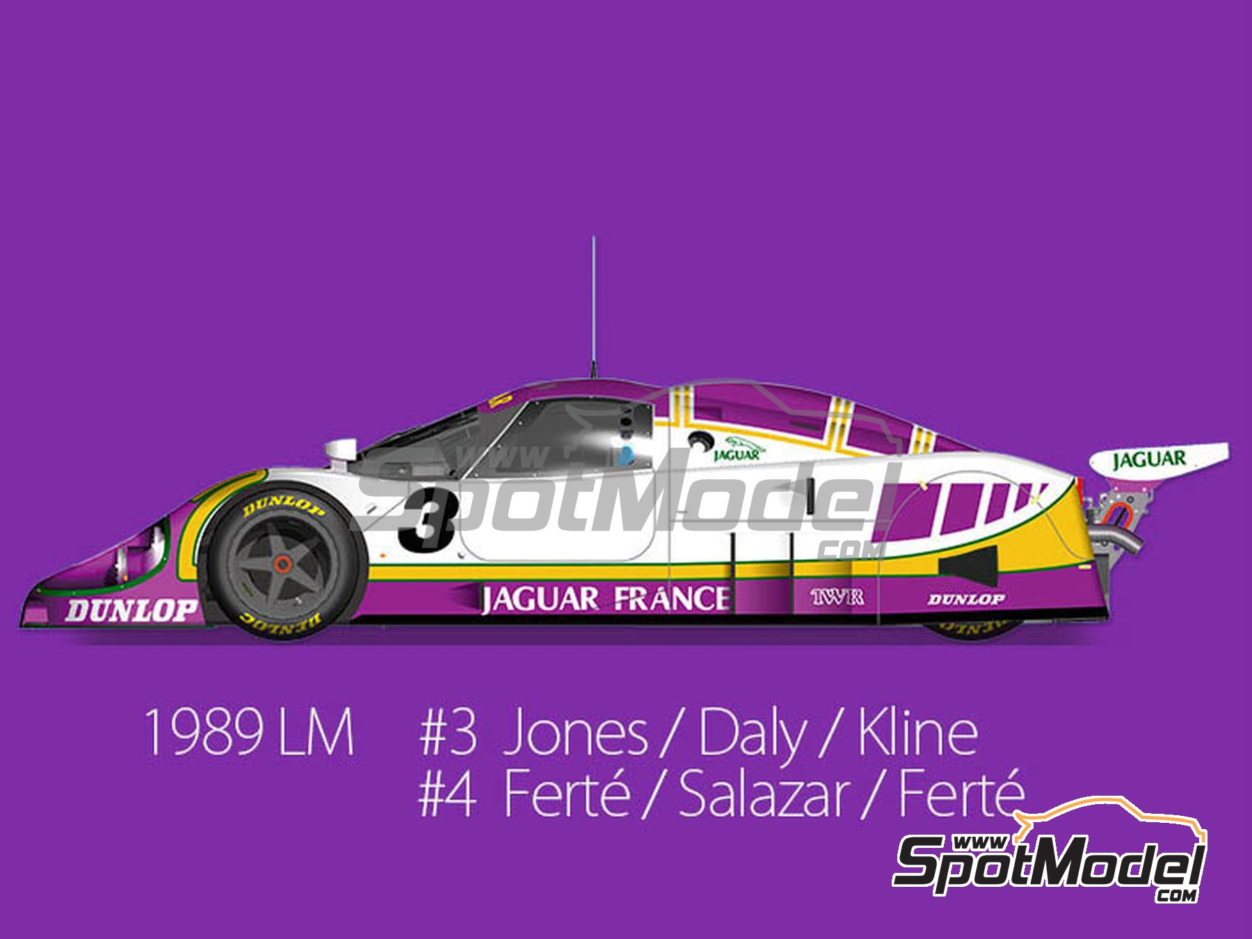 Image 1: Jaguar XJR-9 LM Silk Cut - 24 Hours Le Mans 1989 | Model car kit in 1/43 scale manufactured by Model Factory Hiro (ref. MFH-K591)