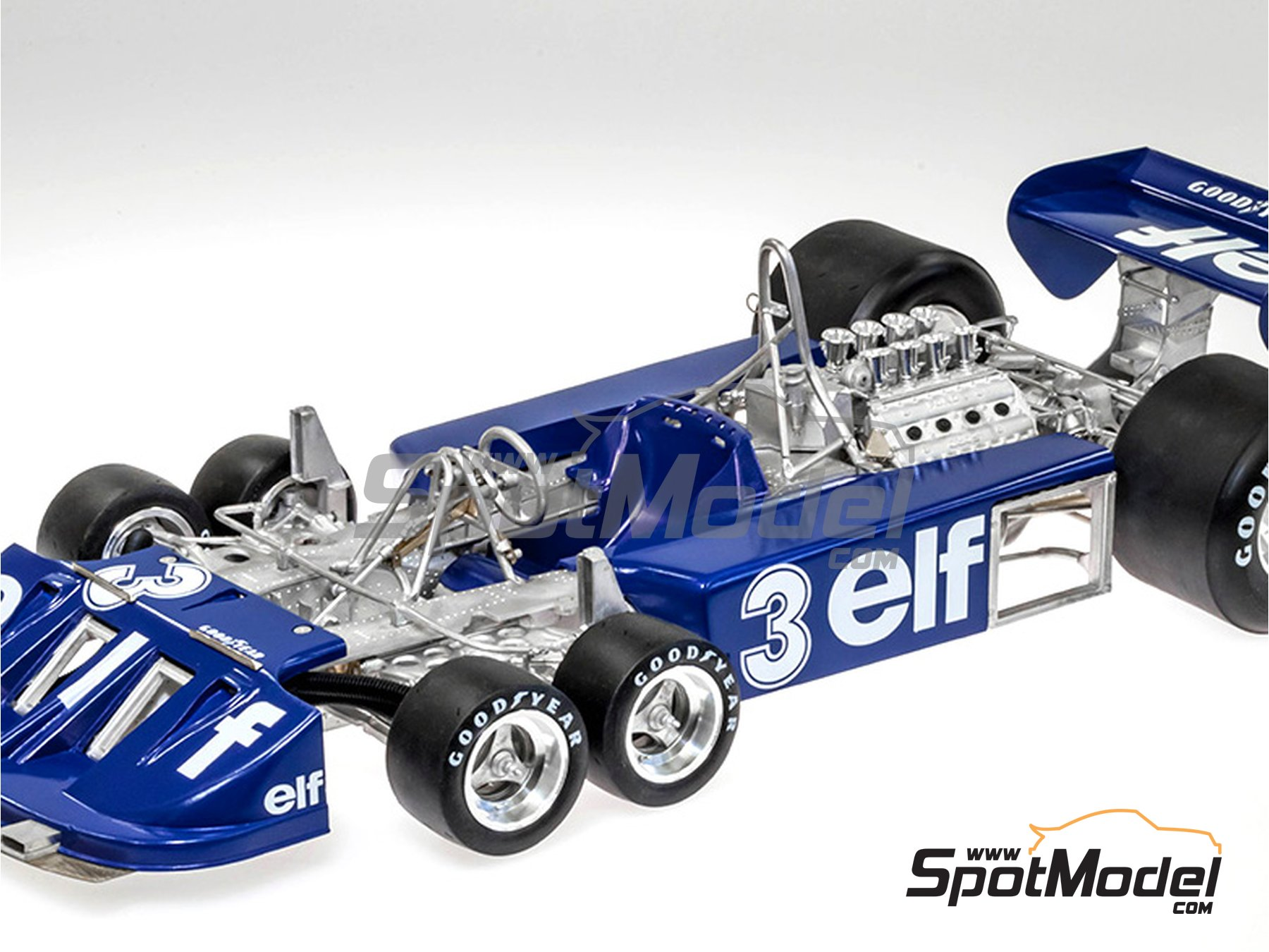 Image 8: Tyrrell Ford P34 ELF - Austrian Formula 1 Grand Prix, Dutch Formula 1 Grand Prix, Italian Formula 1 Grand Prix, Japanese Formula 1 Grand Prix 1977 | Model car kit in 1/12 scale manufactured by Model Factory Hiro (ref. MFH-K599, also K-599)