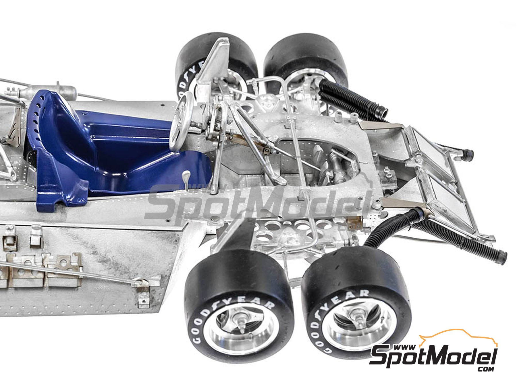 Image 6: Tyrrell Ford P34 ELF - Canadian Grand Prix, USA Grand Prix 1977 | Model kit in 1/12 scale manufactured by Model Factory Hiro (ref.MFH-K600)