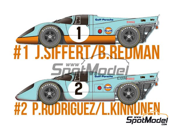 Image 1: Porsche 917K Gulf Automotive Engineering - 24 Horas de Daytona 1970 | Maqueta de coche en escala 1/43 fabricado por Model Factory Hiro (ref. MFH-K601)