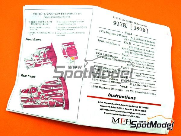 Image 13: Porsche 917K Gulf Automotive Engineering - 24 Horas de Daytona 1970 | Maqueta de coche en escala1/43 fabricado por Model Factory Hiro (ref.MFH-K601)