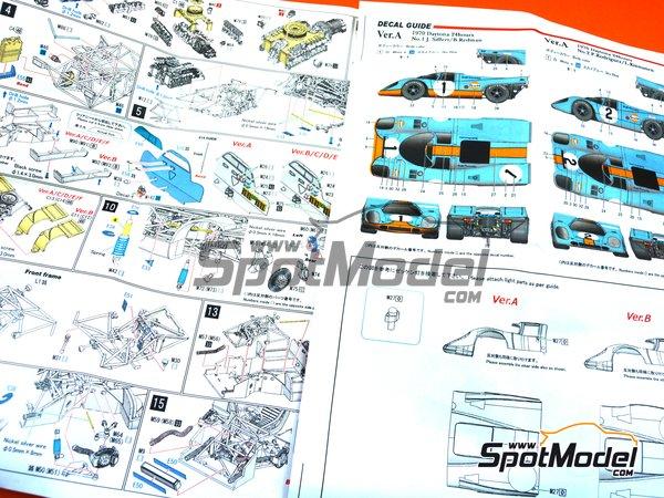 Image 14: Porsche 917K Gulf Automotive Engineering - 24 Horas de Daytona 1970 | Maqueta de coche en escala1/43 fabricado por Model Factory Hiro (ref.MFH-K601)