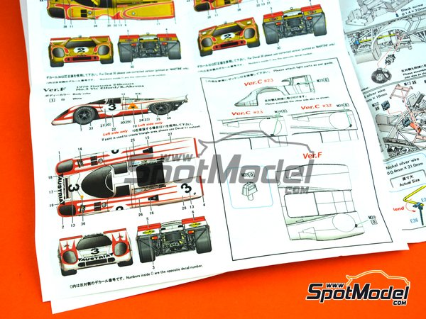 Image 12: Porsche 917K KG Salzburg - 24 Hours of Daytona 1970 | Model car kit in 1/43 scale manufactured by Model Factory Hiro (ref. MFH-K606, also K-606)