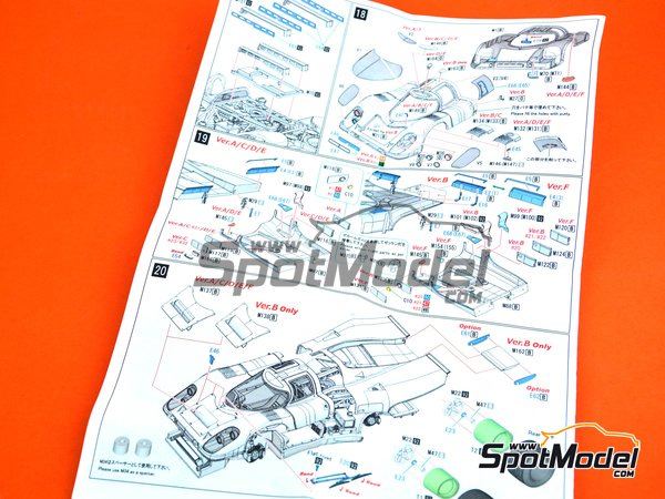 Image 13: Porsche 917K KG Salzburg - 24 Hours of Daytona 1970 | Model car kit in 1/43 scale manufactured by Model Factory Hiro (ref. MFH-K606, also K-606)