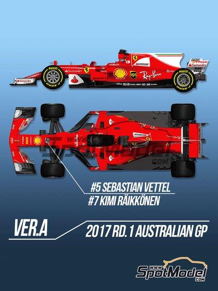 Ferrari SF70H - Gran Premio de Australia 2017 | Maqueta de coche en escala1/12 fabricado por Model Factory Hiro (ref.MFH-K607) image