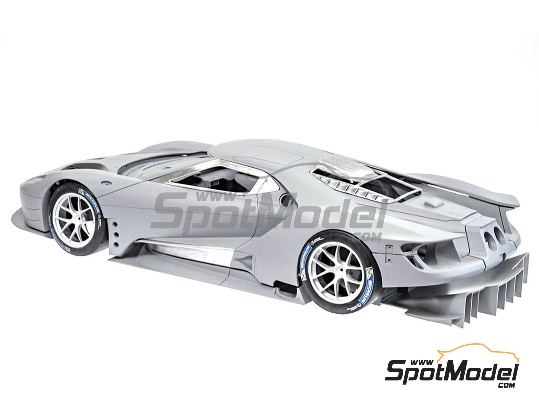 Image 2: Ford GT GTE Team U.K., Team U.S.A. - 24 Hours Le Mans 2017 | Model car kit in 1/12 scale manufactured by Model Factory Hiro (ref. MFH-K619, also K-619)