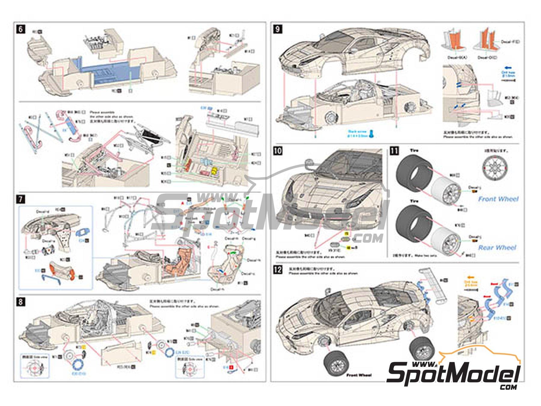 Image 7: Ferrari 488 GTE Risi Competizione -  2017 | Maqueta de coche en escala1/24 fabricado por Model Factory Hiro (ref.MFH-K630)
