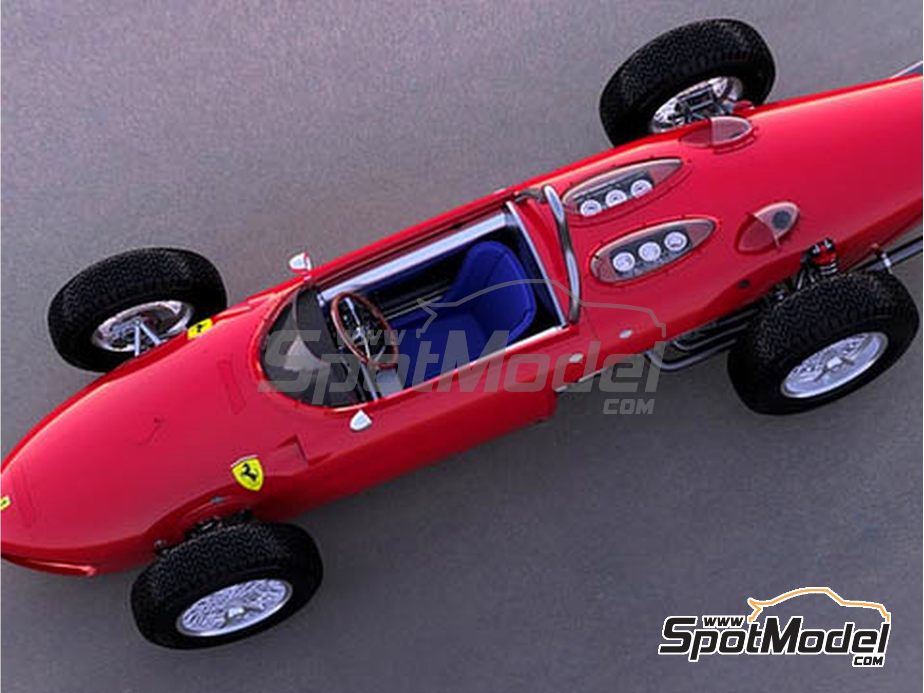 Image 2: Ferrari 156 F1 Shark Nose - Belgian Grand Prix 1961 | Model car kit in 1/12 scale manufactured by Model Factory Hiro (ref. MFH-K643)