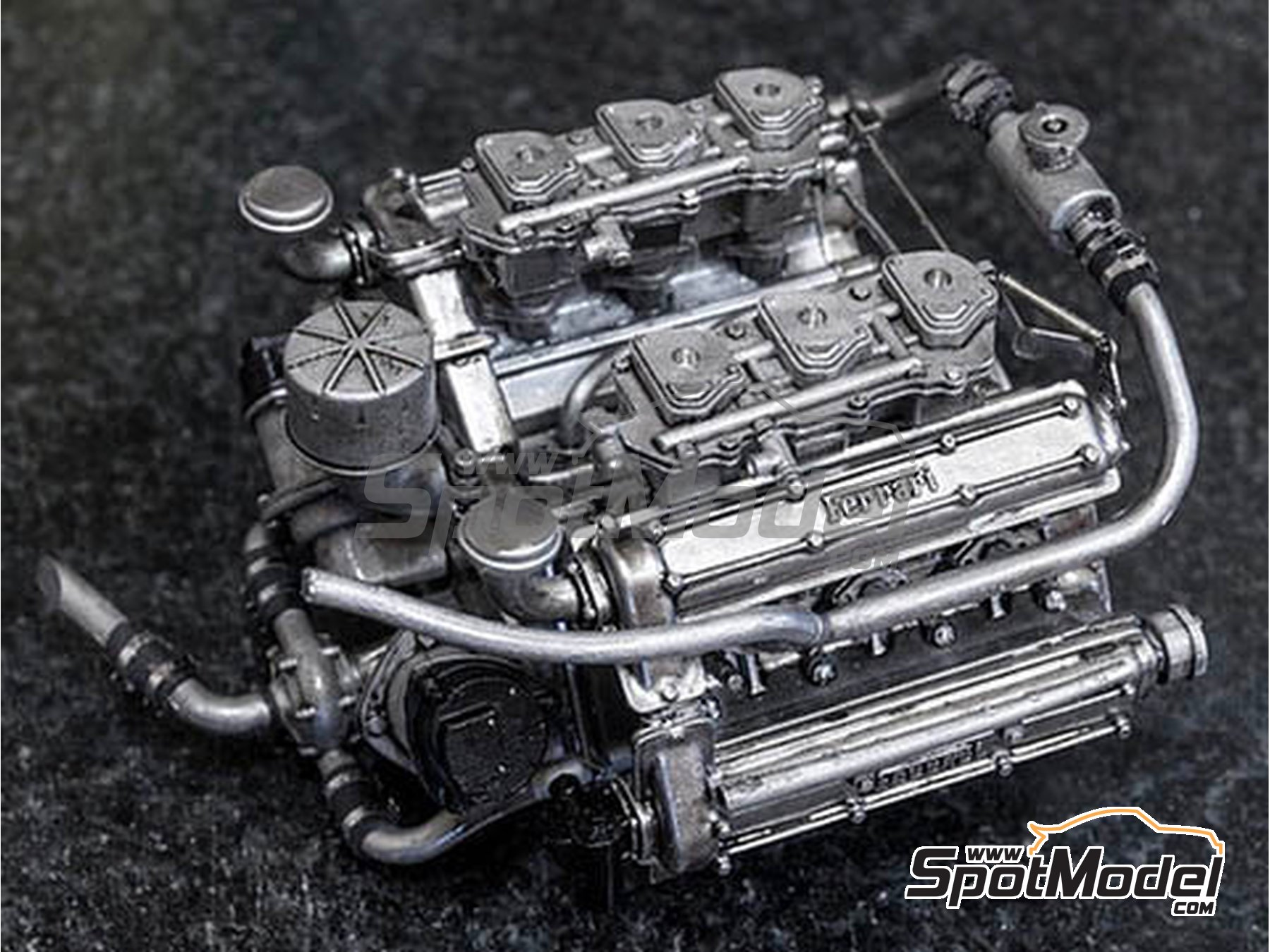 Image 5: Ferrari 156 F1 Shark Nose - Italian Formula 1 Grand Prix 1961 | Model car kit in 1/12 scale manufactured by Model Factory Hiro (ref.MFH-K644)