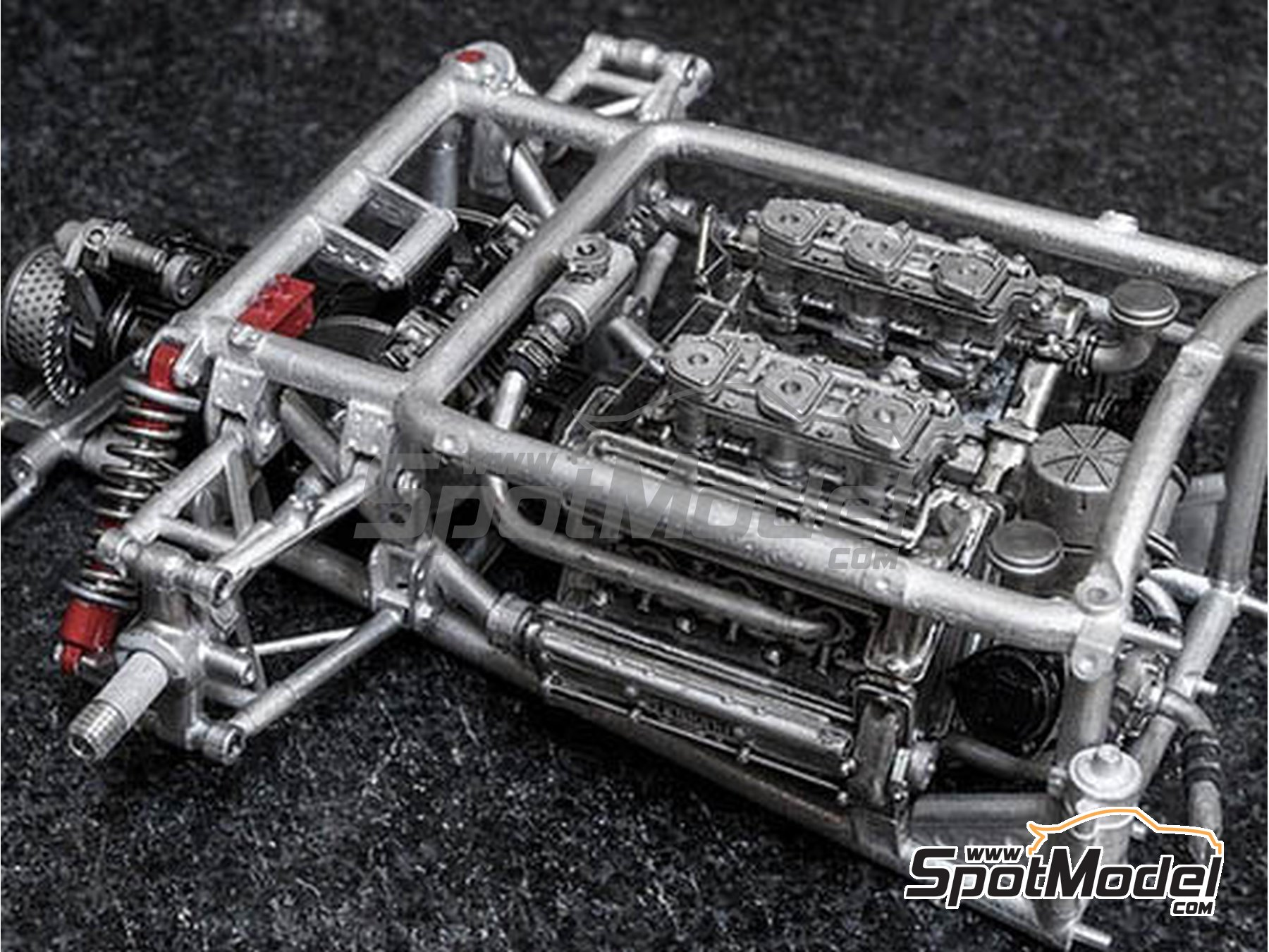 Image 7: Ferrari 156 F1 Shark Nose - Italian Formula 1 Grand Prix 1961 | Model car kit in 1/12 scale manufactured by Model Factory Hiro (ref.MFH-K644)