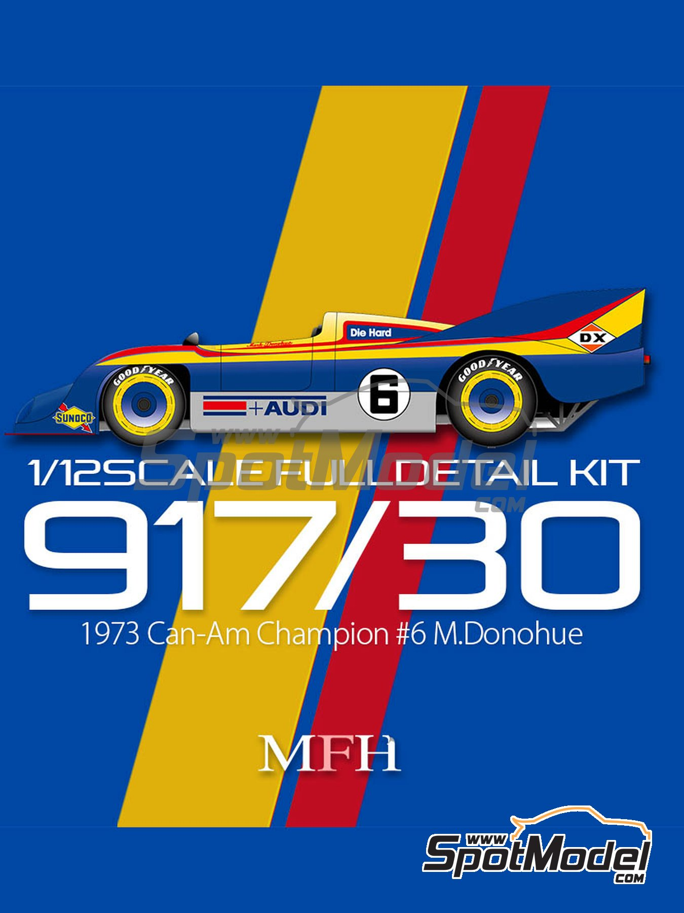 Porsche 917/30 Sunoco - Can-Am Canadian-American Challenge Cup 1973 | Model car kit in 1/12 scale manufactured by Model Factory Hiro (ref. MFH-K649) image