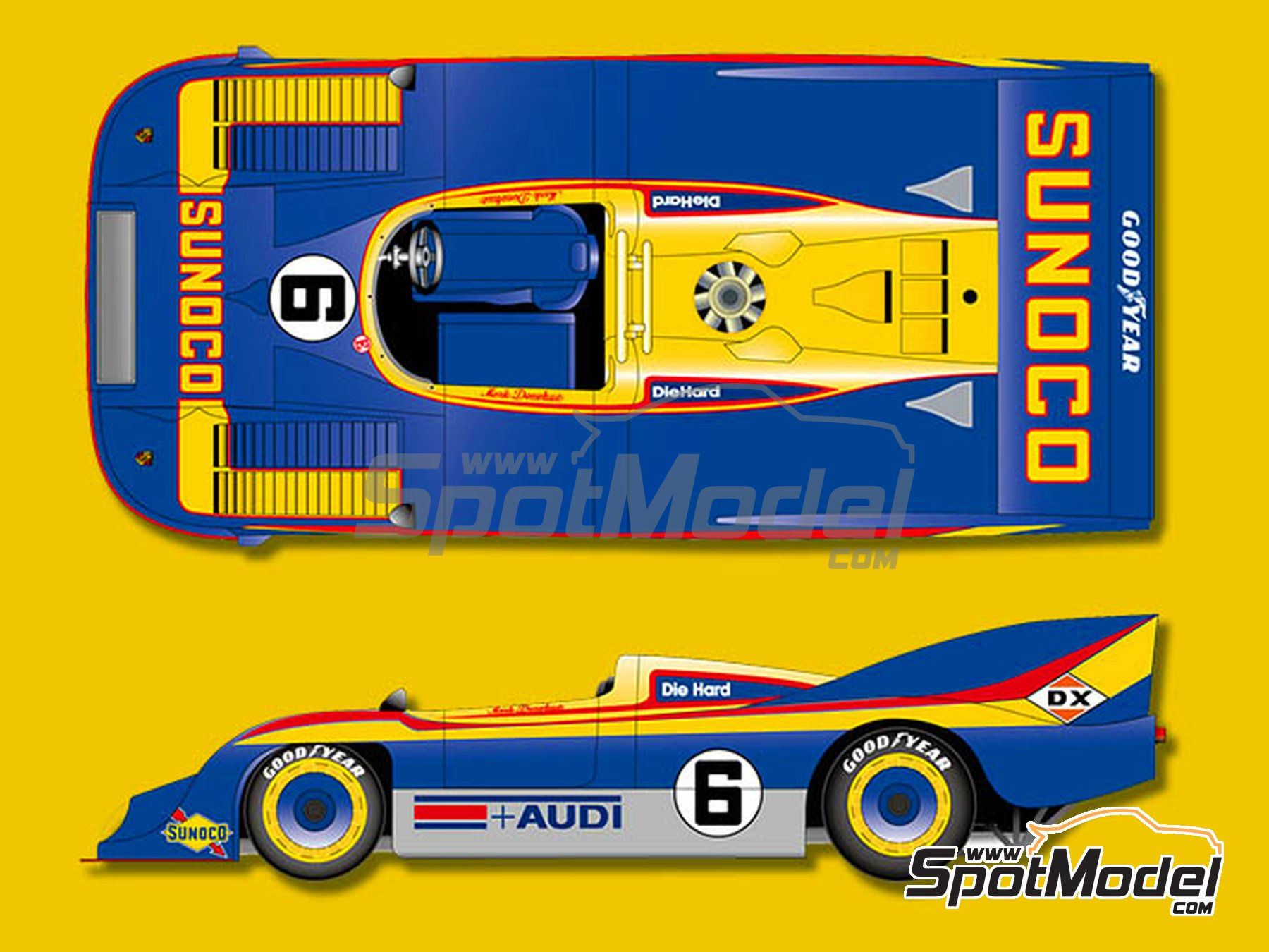 Image 1: Porsche 917/30 Sunoco - Can-Am Canadian-American Challenge Cup 1973 | Model car kit in 1/12 scale manufactured by Model Factory Hiro (ref. MFH-K649)