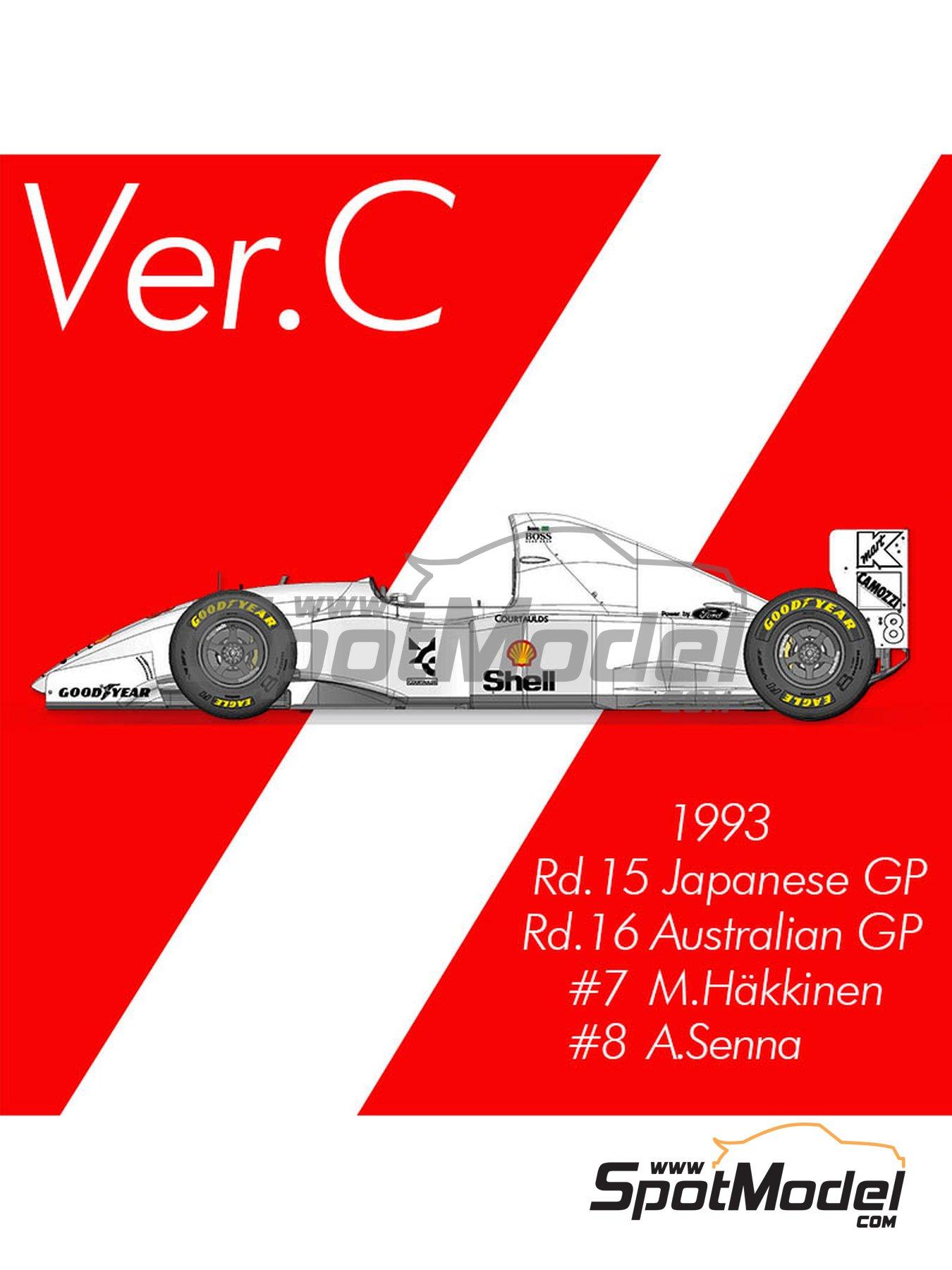 McLaren Ford MP4/8 Marlboro - Australian Grand Prix, Japan Grand Prix 1993 | Model car kit in 1/12 scale manufactured by Model Factory Hiro (ref.MFH-K661) image