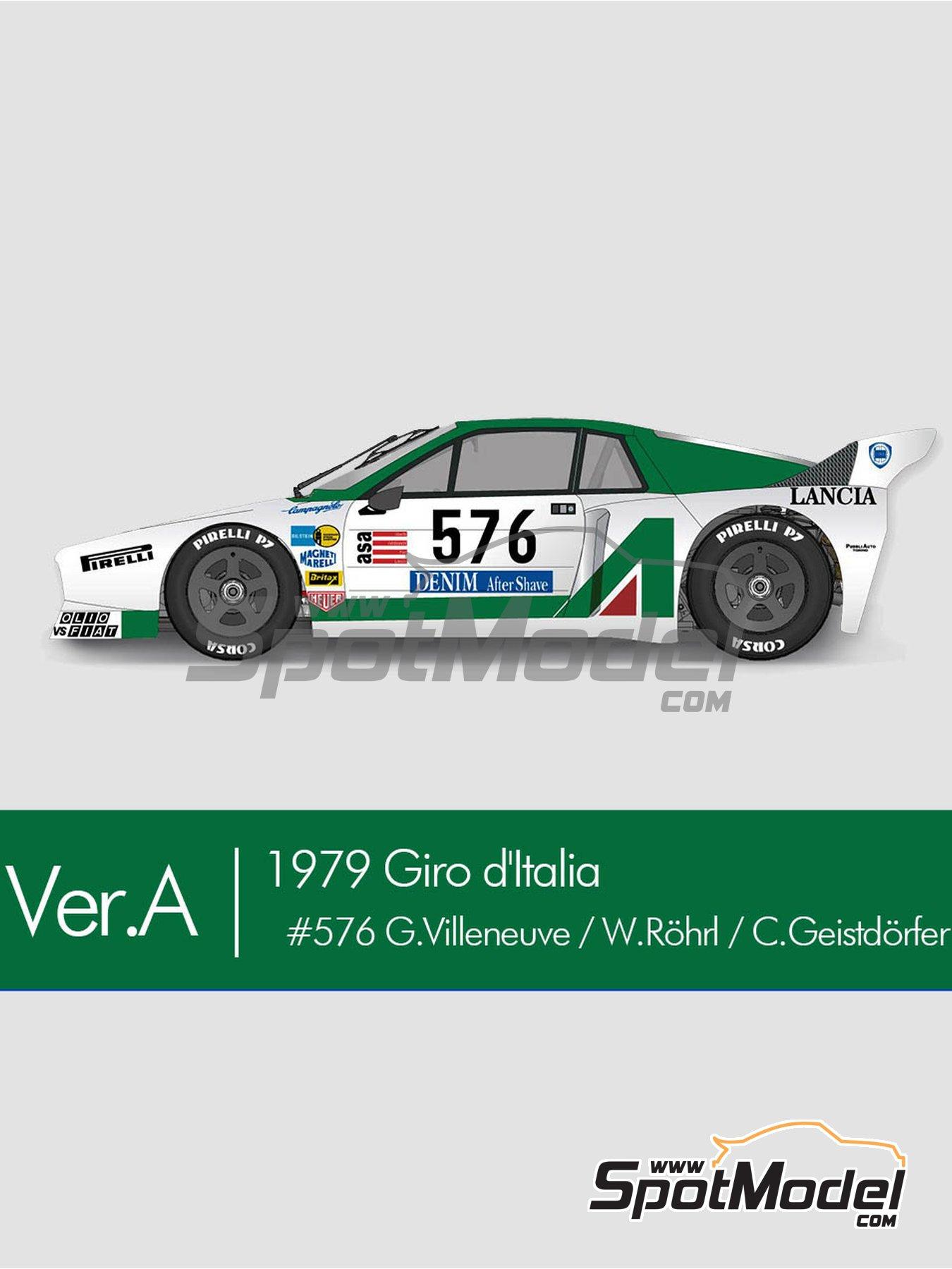 Lancia Beta Montecarlo Alitalia - Giro de Italia Rally 1979 | Model car kit in 1/12 scale manufactured by Model Factory Hiro (ref.MFH-K667, also K-667) image