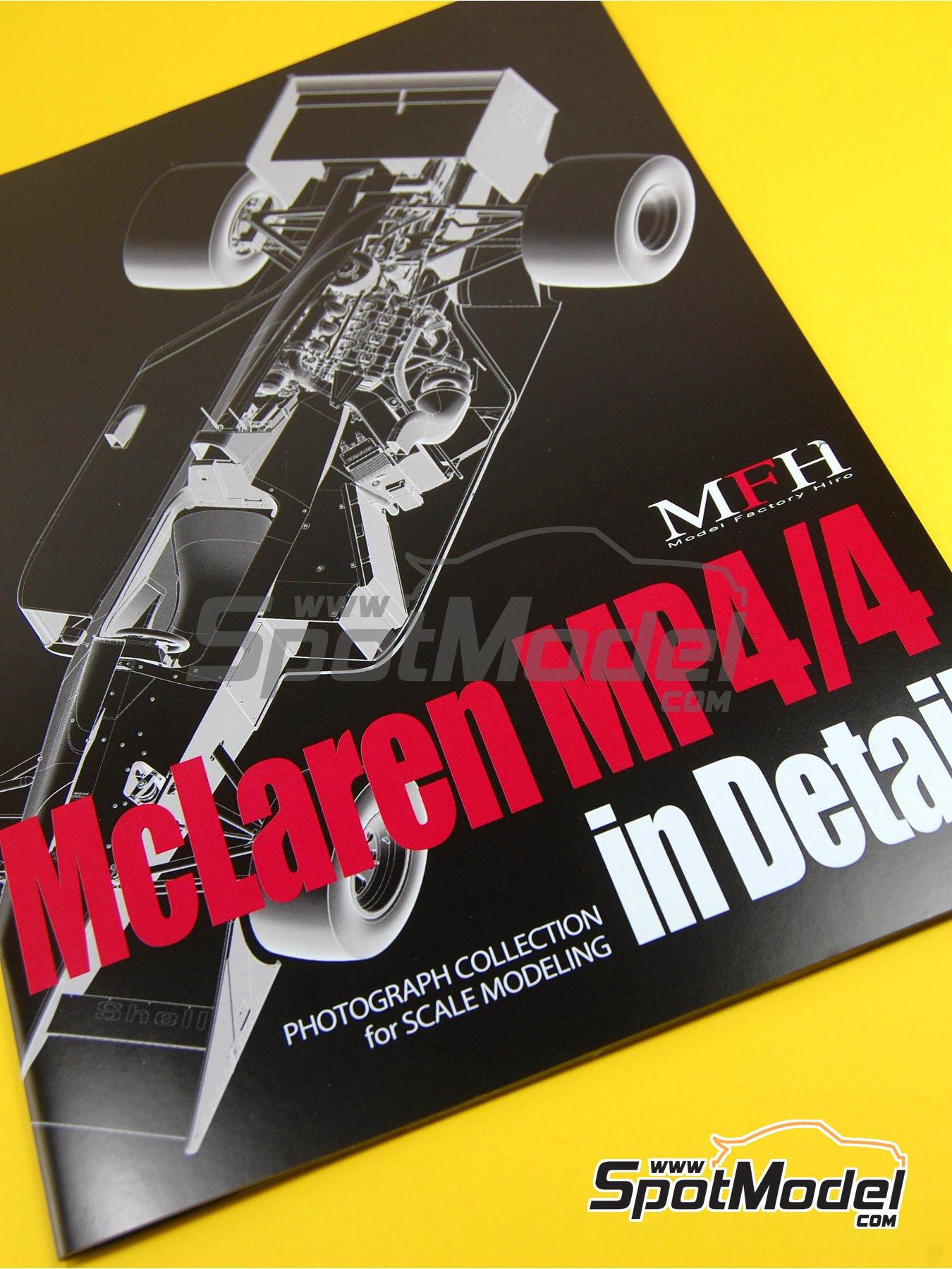 McLaren Honda MP4/4 Marlboro - Campeonato del Mundo de Formula1 1988 | Libro de referencia fabricado por Model Factory Hiro (ref.MFH-MHB-1) image