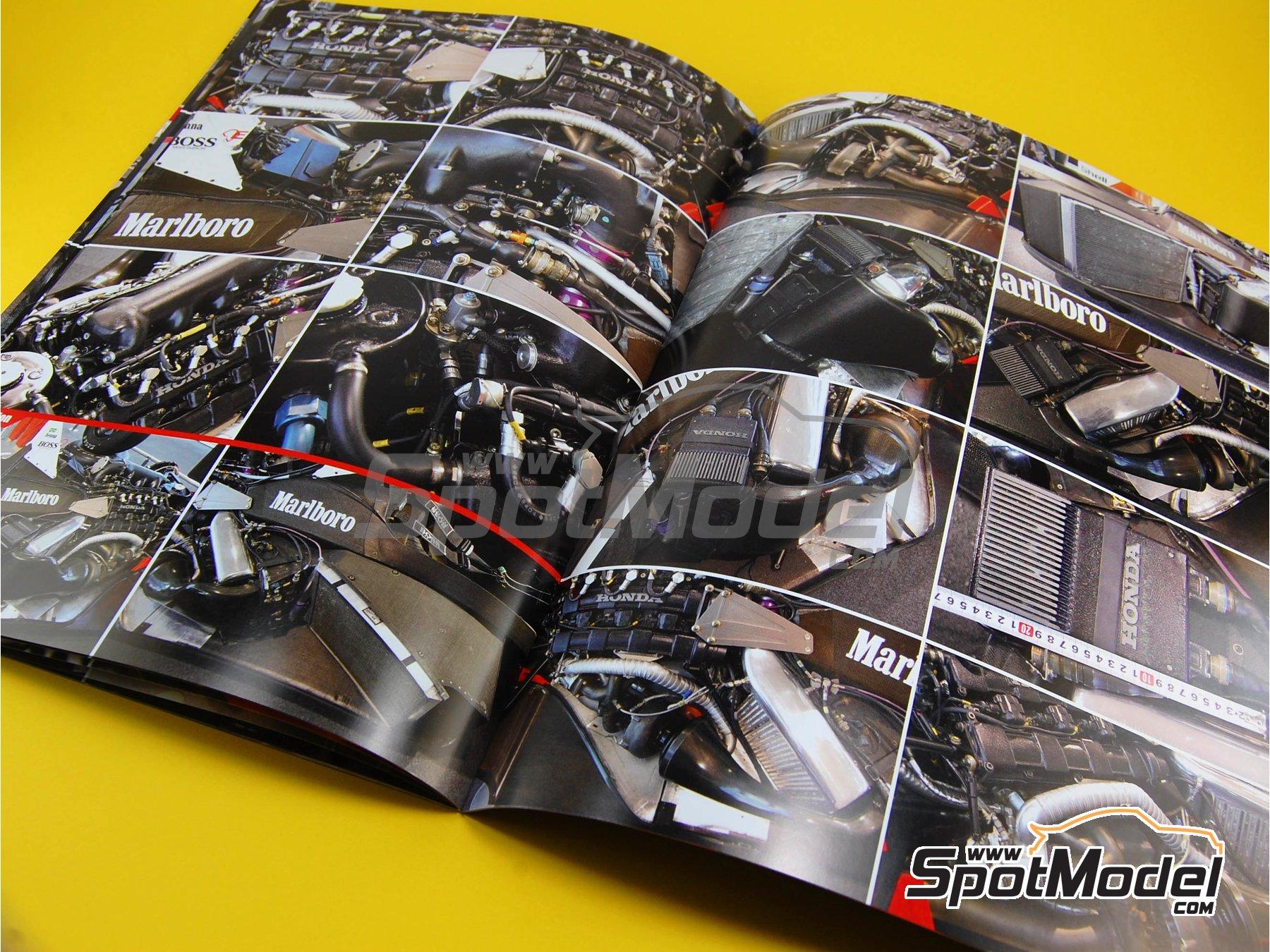 Image 2: McLaren Honda MP4/4 Marlboro - Campeonato del Mundo de Formula1 1988 | Libro de referencia fabricado por Model Factory Hiro (ref.MFH-MHB-1)