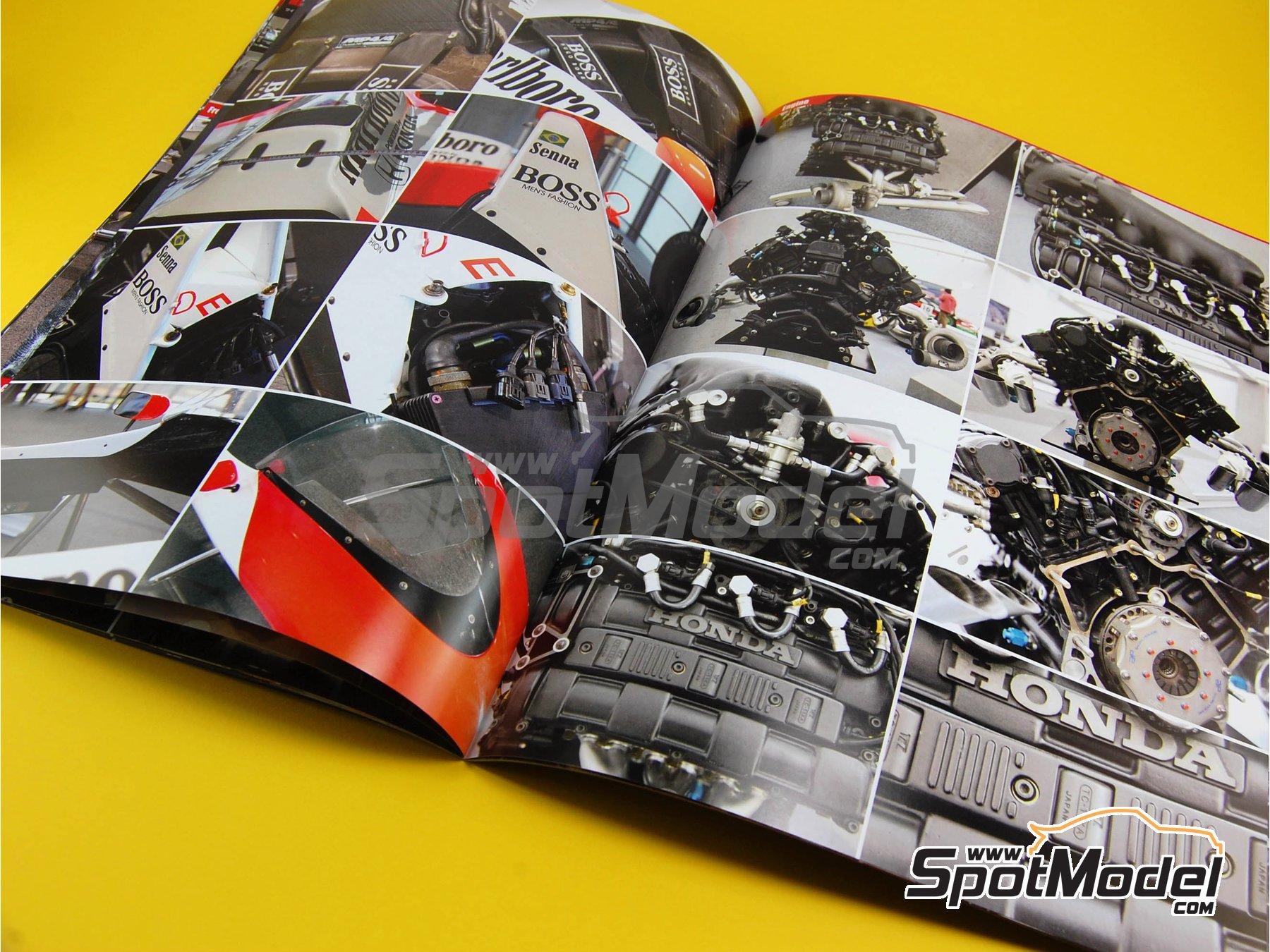 Image 3: McLaren Honda MP4/4 Marlboro - Campeonato del Mundo de Formula1 1988 | Libro de referencia fabricado por Model Factory Hiro (ref.MFH-MHB-1)