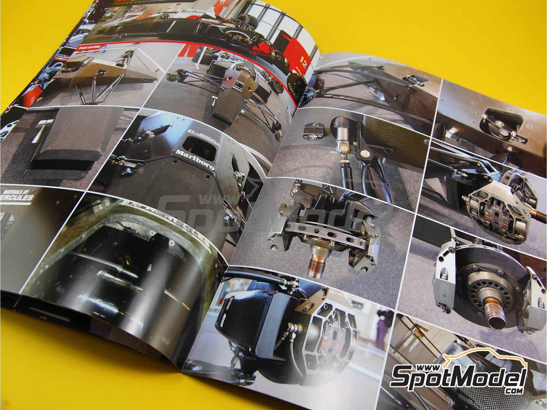 Image 4: McLaren Honda MP4/4 Marlboro - Campeonato del Mundo de Formula1 1988 | Libro de referencia fabricado por Model Factory Hiro (ref.MFH-MHB-1)